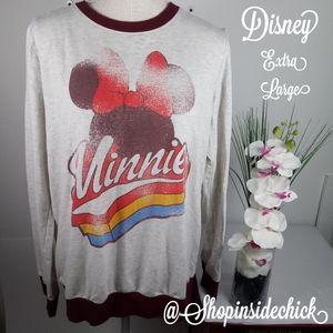 🍓$15 Disney Minnie Mouse Sweater Retro Style Extr
